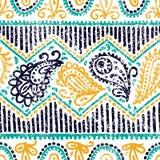 πρότυπο του Paisley άνευ ραφής Εθνικά και φυλετικά μοτίβα οριζόντιο λ διανυσματική απεικόνιση