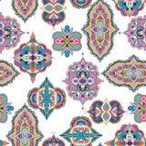 πρότυπο του Paisley άνευ ραφής Ζωηρόχρωμη floral διακόσμηση Στοκ Εικόνα