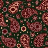 πρότυπο του Paisley άνευ ραφής Το boho ύφους Στοκ εικόνα με δικαίωμα ελεύθερης χρήσης