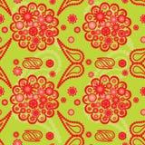 πρότυπο του Paisley λουλουδ& Στοκ εικόνα με δικαίωμα ελεύθερης χρήσης