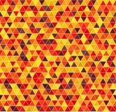 Πρότυπο τριγώνων άνευ ραφής διάνυσμα ανασκό Χρώματα φθινοπώρου Στοκ φωτογραφία με δικαίωμα ελεύθερης χρήσης