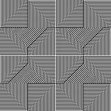 Πρότυπο τριγώνων με τη γραμμή γραπτή Στοκ εικόνες με δικαίωμα ελεύθερης χρήσης