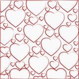 Πρότυπο των καρδιών Στοκ εικόνες με δικαίωμα ελεύθερης χρήσης