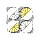 Πρότυπο των φετών λεμονιών Στοκ φωτογραφία με δικαίωμα ελεύθερης χρήσης