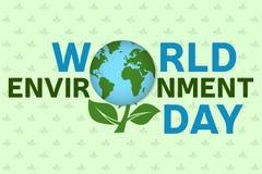 Πρότυπο υποβάθρου ημέρας παγκόσμιου περιβάλλοντος Αφίσα ημέρας παγκόσμιου περιβάλλοντος, έμβλημα Για τη διεπαφή σχεδίου και εφαρμ Στοκ φωτογραφίες με δικαίωμα ελεύθερης χρήσης