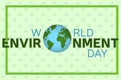 Πρότυπο υποβάθρου ημέρας παγκόσμιου περιβάλλοντος Στοκ Φωτογραφίες