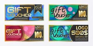 Πρότυπο υποβάθρου καρτών δελτίων αποδείξεων πιστοποιητικών δώρων Στοκ Φωτογραφίες