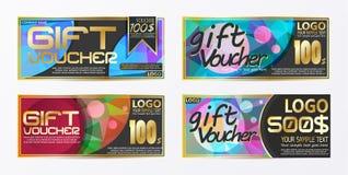 Πρότυπο υποβάθρου καρτών δελτίων αποδείξεων πιστοποιητικών δώρων Στοκ εικόνες με δικαίωμα ελεύθερης χρήσης