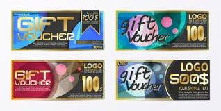 Πρότυπο υποβάθρου καρτών δελτίων αποδείξεων πιστοποιητικών δώρων Στοκ φωτογραφίες με δικαίωμα ελεύθερης χρήσης