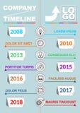 Πρότυπο υπόδειξης ως προς το χρόνο Infographic, αφηρημένο διάνυσμα με επτά ημερολογιακά στοιχεία, τα εικονίδια και το διαστημικό, Στοκ εικόνες με δικαίωμα ελεύθερης χρήσης