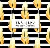 πρότυπο φτερών άνευ ραφής Ζωηρόχρωμο γεωμετρικό υπόβαθρο φτερών ` Στοκ εικόνα με δικαίωμα ελεύθερης χρήσης