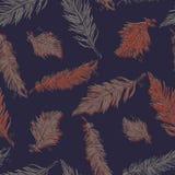 πρότυπο φτερών άνευ ραφής Ο τρύγος δίνει καλλιτεχνικά συμένος ελεύθερη απεικόνιση δικαιώματος
