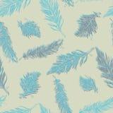 πρότυπο φτερών άνευ ραφής Ο τρύγος δίνει καλλιτεχνικά συμένος απεικόνιση αποθεμάτων