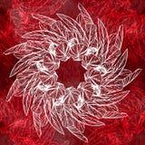 πρότυπο φτερών άνευ ραφής Στρογγυλό καλειδοσκόπιο Στοκ φωτογραφία με δικαίωμα ελεύθερης χρήσης