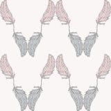πρότυπο φτερών άνευ ραφής Στοκ Εικόνα