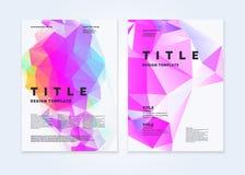 Πρότυπο φυλλάδιων για το σύγχρονο περιοδικό επιχειρήσεων και κάλυψης Αφηρημένο polygonal υπόβαθρο Στοκ Φωτογραφίες