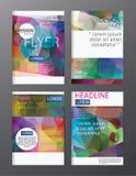 Πρότυπο φυλλάδιων επιχειρησιακών ετήσια εκθέσεων σχεδίου ιπτάμενων κάλυψη προ απεικόνιση αποθεμάτων