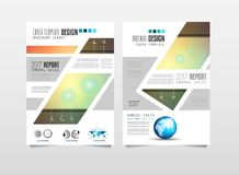 Πρότυπο φυλλάδιων, σχέδιο ιπτάμενων ή κάλυψη Depliant για την επιχείρηση Στοκ Φωτογραφία