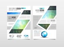 Πρότυπο φυλλάδιων, σχέδιο ιπτάμενων ή κάλυψη Depliant για την επιχείρηση Στοκ εικόνα με δικαίωμα ελεύθερης χρήσης