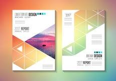 Πρότυπο φυλλάδιων, σχέδιο ιπτάμενων ή κάλυψη Depliant για την επιχείρηση Στοκ Φωτογραφίες