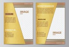 πρότυπο φυλλάδιων Στοκ φωτογραφία με δικαίωμα ελεύθερης χρήσης