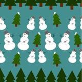 πρότυπο Χριστουγέννων άνευ ραφής Στοκ εικόνα με δικαίωμα ελεύθερης χρήσης