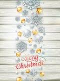 Πρότυπο Χριστουγέννων με τη διακοπή εγγράφου 10 eps Στοκ Εικόνα