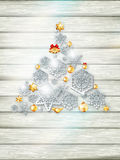 Πρότυπο Χριστουγέννων με τη διακοπή εγγράφου 10 eps Στοκ εικόνα με δικαίωμα ελεύθερης χρήσης