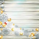 Πρότυπο Χριστουγέννων με τη διακοπή εγγράφου 10 eps Στοκ Φωτογραφίες