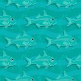 πρότυπο ψαριών άνευ ραφής ανασκόπηση υποβρύχια Στοκ Φωτογραφίες