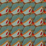 πρότυπο ψαριών άνευ ραφής Στοκ εικόνα με δικαίωμα ελεύθερης χρήσης