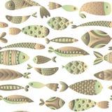 πρότυπο ψαριών άνευ ραφής Στοκ Φωτογραφίες