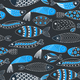 πρότυπο ψαριών άνευ ραφής Στοκ Εικόνα