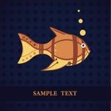 πρότυπο ψαριών καρτών Στοκ Φωτογραφία