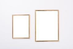 Πρότυπο δύο χρυσό πλαισίων Στοκ Φωτογραφίες