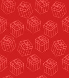 πρότυπο δώρων κιβωτίων άνευ ραφής Στοκ Εικόνες