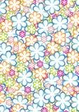 πρότυπο 2 λουλουδιών Στοκ Εικόνες
