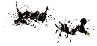 πρότυπο 3 μελανιού splat Στοκ φωτογραφία με δικαίωμα ελεύθερης χρήσης