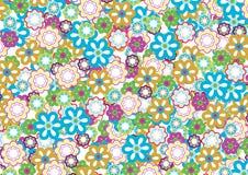 πρότυπο 5 λουλουδιών διανυσματική απεικόνιση