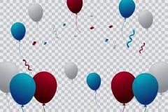 Πρότυπο Ballloons με το διαφανές υπόβαθρο Στοκ φωτογραφία με δικαίωμα ελεύθερης χρήσης
