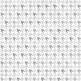 Πρότυπο Houndstooth Γκρίζος και άσπρος άνευ ραφής Στοκ Εικόνες