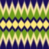 Πρότυπο Ikat Εθνικό κλωστοϋφαντουργικό προϊόν Τυπωμένη ύλη Ikat Διανυσματική ταπετσαρία στοκ φωτογραφίες