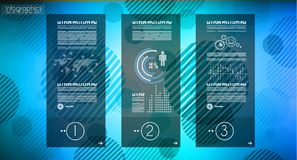 Πρότυπο Infograph με τις πολλαπλές επιλογές και πολύ infographi ελεύθερη απεικόνιση δικαιώματος