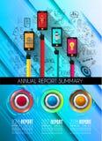 Πρότυπο Infograph με τις πολλαπλές επιλογές και πολύ infographi διανυσματική απεικόνιση