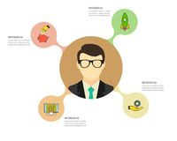 Πρότυπο Infographic Απεικόνιση στοιχείων Μπορέστε να χρησιμοποιηθείτε για το σχεδιάγραμμα ροής της δουλειάς, αριθμός επιλογών, βή Στοκ εικόνα με δικαίωμα ελεύθερης χρήσης