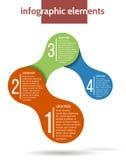 Πρότυπο Infographic βαθμιαία Στοκ Εικόνες