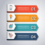 Πρότυπο Infographic βελών Διανυσματική ανασκόπηση