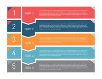 Πρότυπο Infographic για τις επιχειρησιακές παρουσιάσεις Στοκ Φωτογραφίες