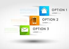 Πρότυπο Infographic, εμβλήματα τετραγώνων επιλογής με  Στοκ φωτογραφία με δικαίωμα ελεύθερης χρήσης