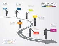 Πρότυπο Infographic επίσης corel σύρετε το διάνυσμα απεικόνισης Μπορέστε να χρησιμοποιηθείτε για το σχεδιάγραμμα ροής της δουλειά Στοκ Εικόνες